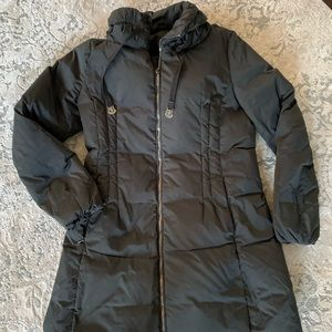 Moncler Nim Black Down Puffer with removable hood